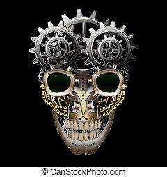 vapor, punk, cráneo