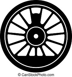 vapor, rueda, locomotora