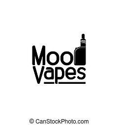 Vapor Smoke Electric Logo Vector