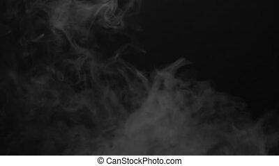 Vapor smoke of cigarette - White smoky cloud of electronic...