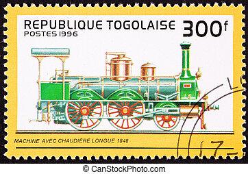 vapore, caldaia, potts., ferrovia, vecchio, fatto, engine., ...