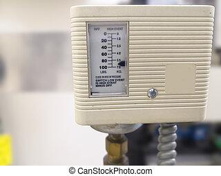 vapore, controllo, interruttore, caldaia, pressione