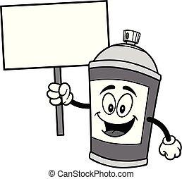 vaporisez boîte, illustration, signe