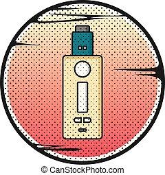 vaporizer electric cigarette vapor vape mod vector