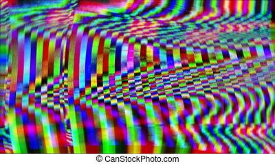 vaporwave, informatique, vendange, données, iridescent, arrière-plan., psychédélique, multicolore, corrompu, compilation.