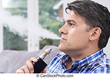 vapourizer, 成長した, 喫煙, 使うこと, 選択肢, 人