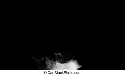 Vapours Fog Blow from Bottom a Black Background