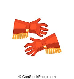 vaquero, fleco, aislado, guantes, plano de fondo, blanco, dibujo