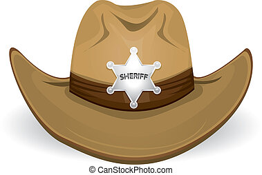 vaquero, hat., vector, illustration.