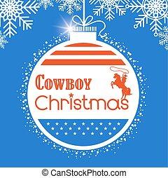 vaquero, norteamericano, decoración, bandera, occidental, plano de fondo, tarjeta de navidad