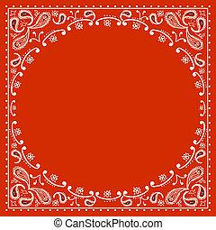 vaquero, rojo, bandanna