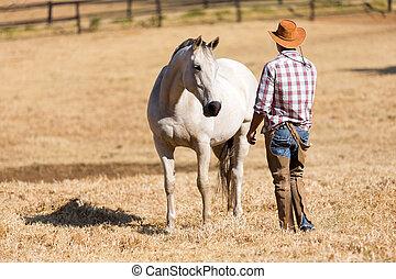 vaquero, y, caballo