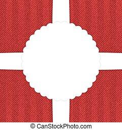 vaqueros, tarjeta de felicitación, rojo
