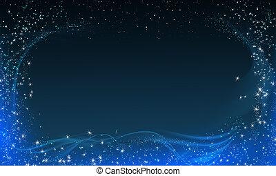 varázslatos, éjszaka, keret