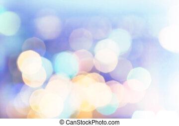 varázslatos, ünnepies, na, háttér, bokeh., színes