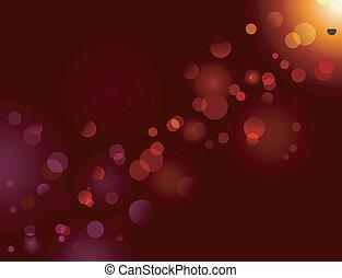 varázslatos, szikra, fény, bokeh, hatás, dots;, vektor