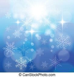 varázslatos, tél, háttér