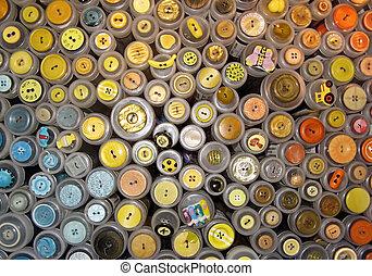 Var. buttons - Close-up of var. buttons