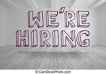 var!, hiring, skriv, ind, klar, rum