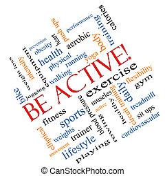 vara, begrepp, ord, Meta,  active!, moln