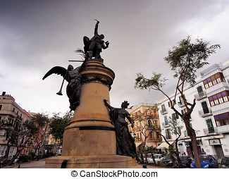 Vara de Rey Monument in Ibiza Town, Balearic Islands - Photo...