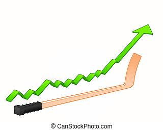 vara hockey, crescimento