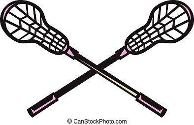 vara lacrosse, woodcut
