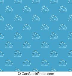 Varan pattern vector seamless blue