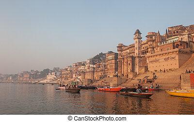 varanasi , πόλη , ινδία , άγιος