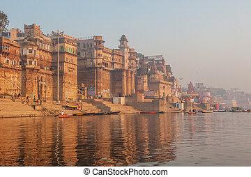 varanasi, ciudad, india, santo