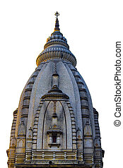 Varanasi Kashi Vishwanath Temple. top of the building. a beautif
