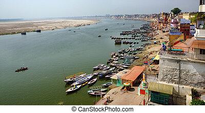 Varanasi Panorama - A panoramic bird's eye view of the ...