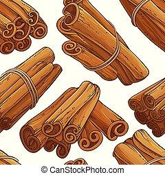 varas canela, vetorial, padrão