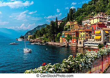 Varenna, small town on lake Como, Italy