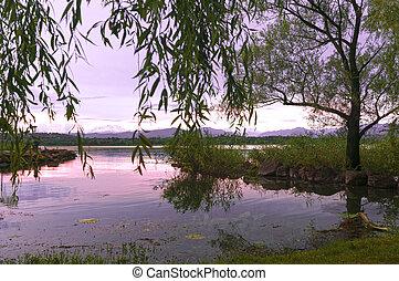 Varese lake, landscape