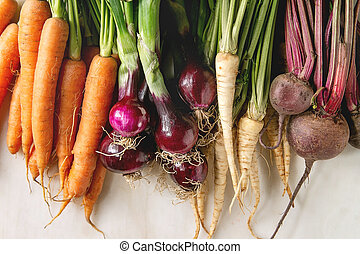 variété, enracinez légumes