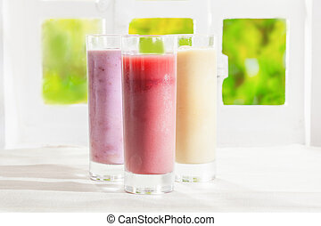 variété fruit, smoothies