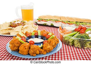 variété, nourriture, fête