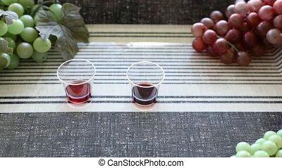 variétés, différent, vin, tasses, rouges