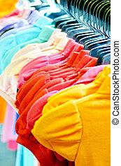 variëteit, ongedwongen, hangers, overhemden