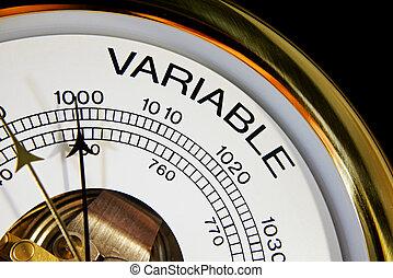 Variable, change on barometer face