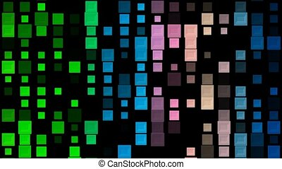 Variable changing squares in various colors