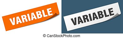 variable paper peeler sign set. variable sticker