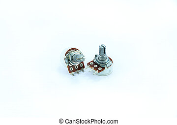 Variable resistor on a white background.