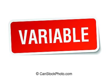 variable square sticker on white