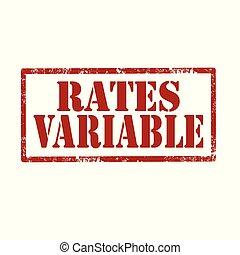 variable-stamp, tasas