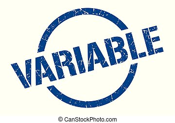 variable stamp - variable blue round stamp