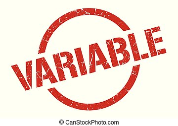 variable stamp - variable red round stamp