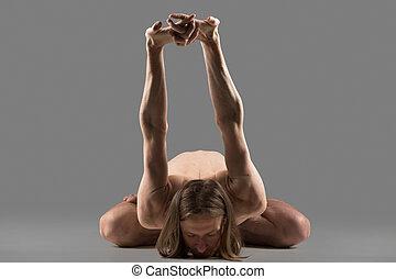 variación, de, yogamudrasana
