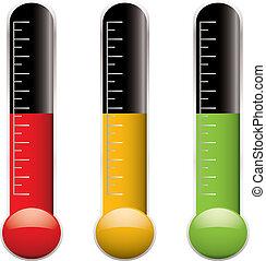 variación, termómetro